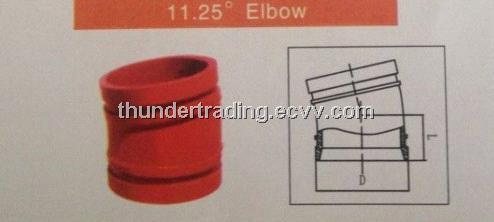 11.25 Degree Elbow for Fire Pipe,Pipe Fitting,Groove Fitting