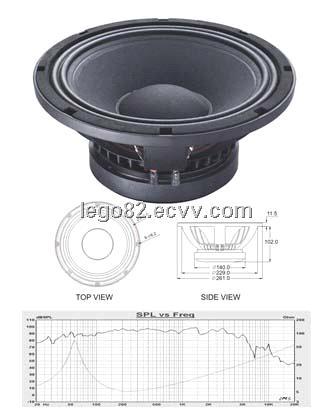 2014 new design 10inch Mid&Bass Frequency loudspeaker