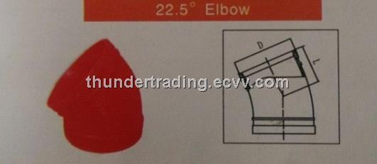22.5 Degree Elbow for Fire Pipe,Pipe Fitting,Groove Fitting