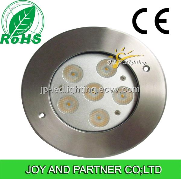 6*1W Singel Color LED Underground Light,CE Certificated,IP68,Stainless Steel