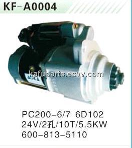 KOMATSU Excavator PC200-6/7 6D102 Starting Motor 600-813-5110