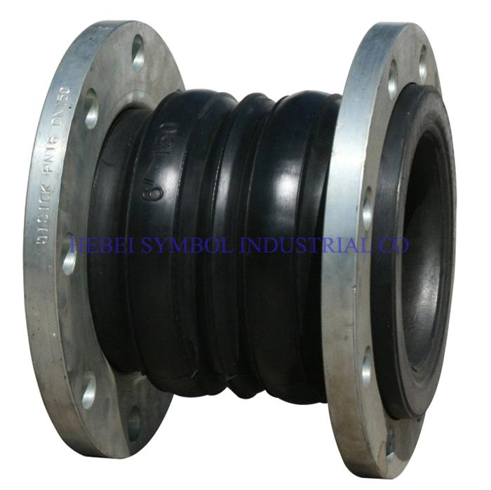 Dual ball rubber expansion joint with floating flange