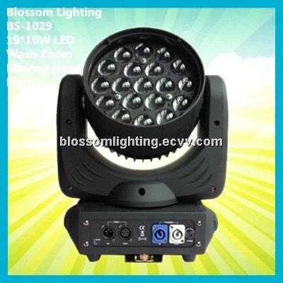 19*10W LED Wash Zoom Moving Head Light (BS-1029)