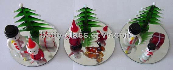 Glass Table Decorative / Christmas Glass Ornament / Glass Tree Ornament / Christmas Day Gift