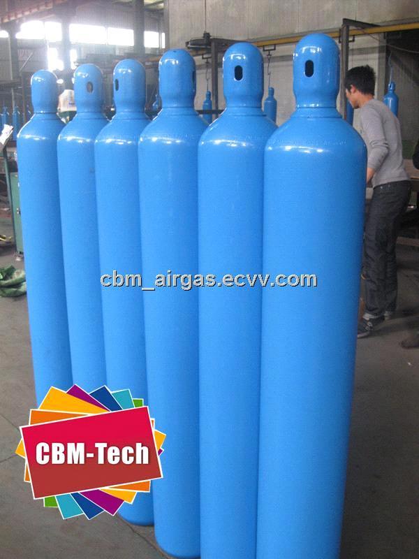Water Capacity 40L,6m3 Seamless Steel Oxygen Cylinders,40 Liter Steel  Oxygen Cylinder Tanks
