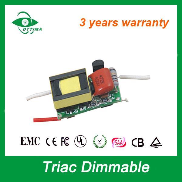 0-10V/PWM/DALI/Trial LED Driver 4W 5W 6W 7W 300mA LED Driver 12V Dimmable