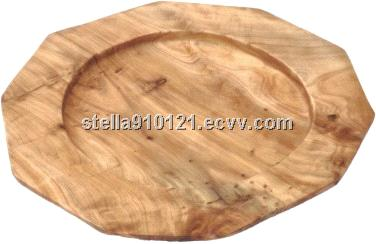 2014 Hand-made Carved Wooden Root Serving Tray Platters