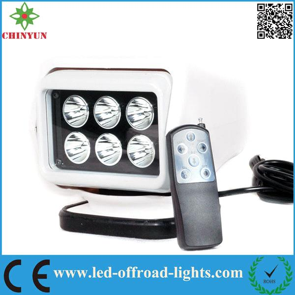 7'' 30W Wireless Remote control LED Work Light Lamp LED Portable led Search Light
