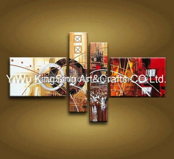 Abstract oil painting for decoration