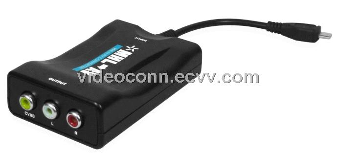 Mini MHL to AV Converters Support MHL Mobile Phones from