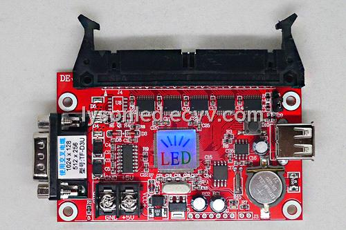 TF-D3U Single/Double Color LED Control Card , Serial 232 and USB Disk Controller