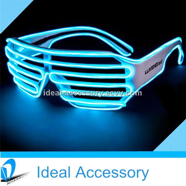 Unique Design Shutter Style El Wire Growing Glasses For Party Favors ...