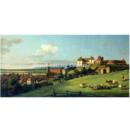View of Pirna from the Sonnenstein Castle by Bernardo Bellotto