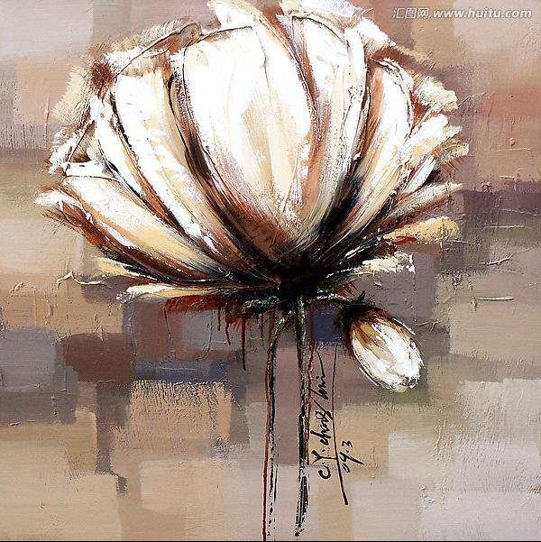 Large white flower oil paintingsabstract wall art picture large white flower oil paintingsabstract wall art picture mightylinksfo Gallery
