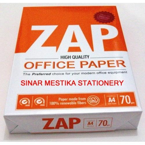 ZAP A4 Copy Paper 80gsm/75gsm/70gsm from Malaysia Manufacturer