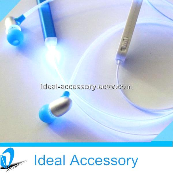 2nd Generation Better Quality Led Flashing Fiber Optic earphone cable