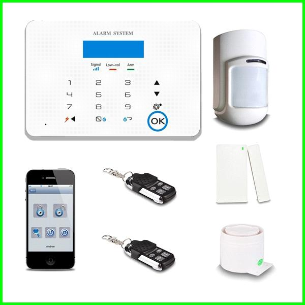 2014 Intelligent home security GSM Alarm System GSM-X6 with external antenna