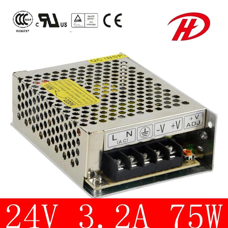 2 Years Warranty 75W 12V/24V Switching Power Supply (HS-75W)