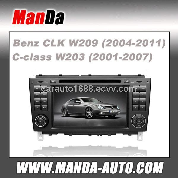 Car dvd gps for Mercedes-Benz CLK W209 C-class W203 2 Din Car Radio