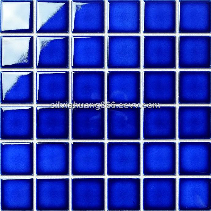 Cobalt Blue 2 X2 Swimming Pool Tiles From China