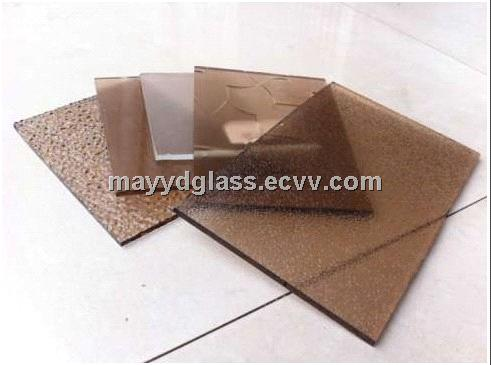 Good thermal stability green coated tempered glass for building doors and curtain wall