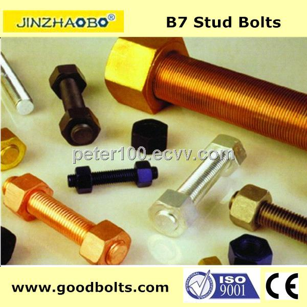 High quality ASTM A193 B7 stud bolt with 2H nuts