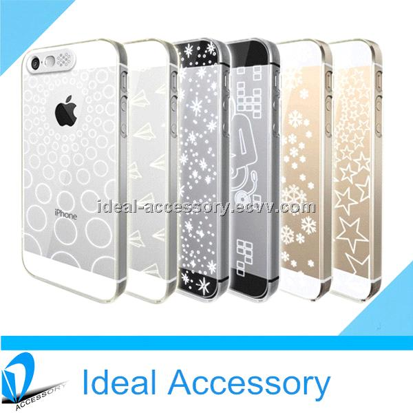 Hot Selling Calling Sense Led Flashing Lighting Clear Back Case for iPhone5/5s Various shapes Design