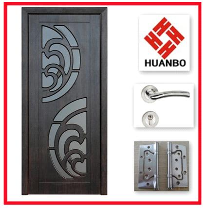 . Latest design interior MDF wooden PVC doors