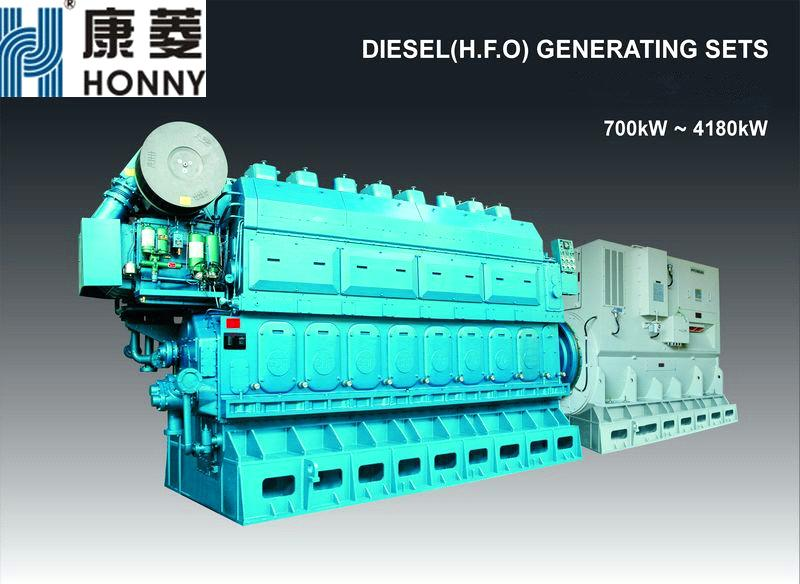 Low Speed China Diesel & HFO 750 rpm Generator