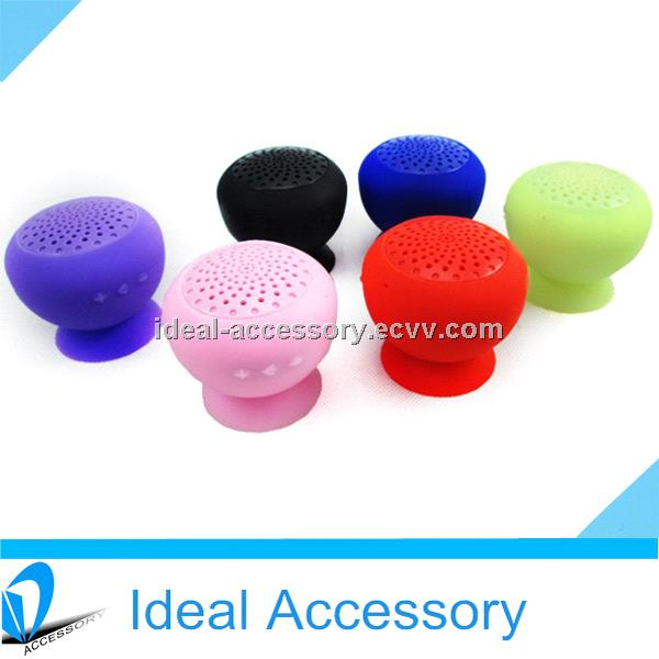 Newest Best Selling Portable Mini Sucker Mushroom Bluetooth Speaker for car kit use etc