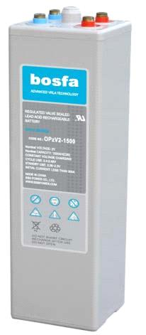 OPzV2-1500 rechargeable dry cell batteries 2v 1500ah battery batterie opzv