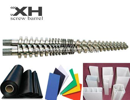 PVC conical twin screw barrels for PVC Profile Extrusion Machine