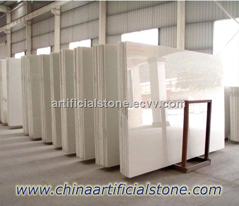 Pure White Crystallized Glass Stone Slabs, tiles, Countertops