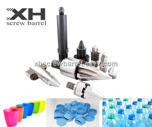 Screw tip assembly for Vertical Injection Molding Machine