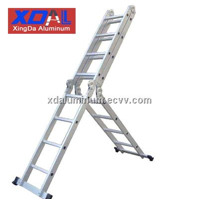 XD-M-580 Aluminum folding multi-position ladder with 150kgs load capacity