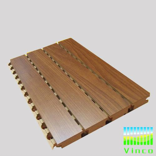 grooved wooden acoustic insulation board
