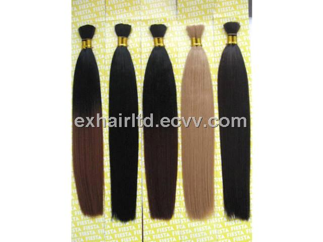 Human Hair Bulk Remy Hair Extension Hair Weave Silky Straight