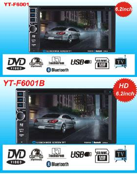 two din 6.2inch car dvd player with gps shenzhen factory