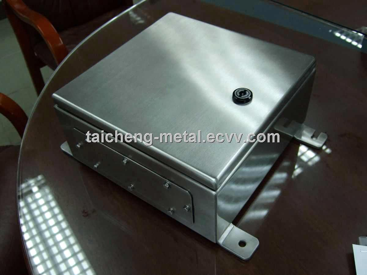 Stainless steel switch power panel box for power supply on