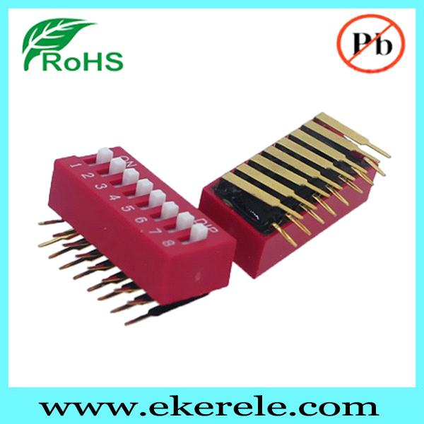 1-12 Positions Right Angle Dip Switch RED/BLUE