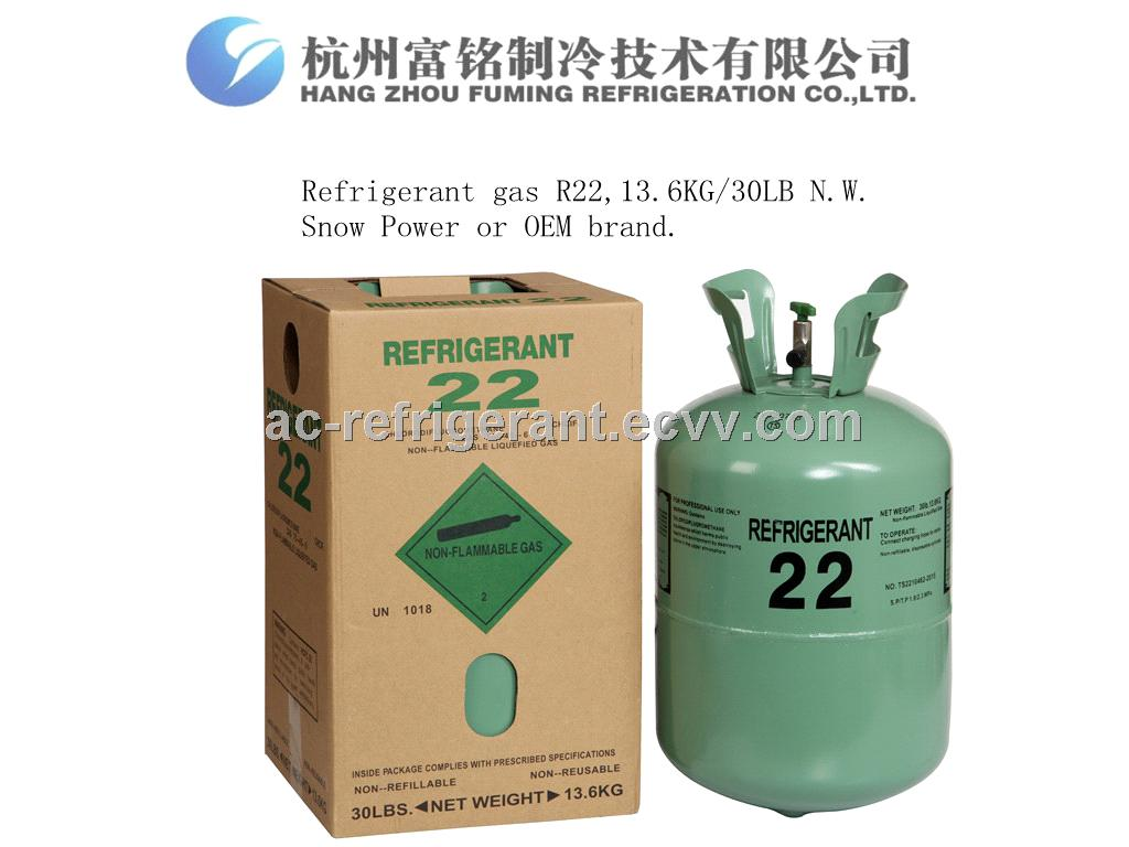 30LB Disposable Cylinder R22 Refrigerant Gas 75-45-6