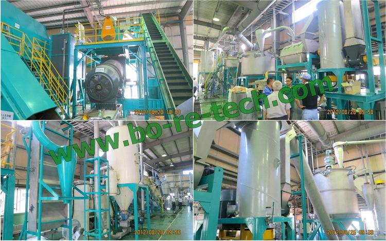 500 kg/h PET bottle wash line