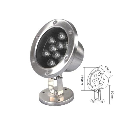 CE RoHS approved 9W high reliability 9W LED underwater light