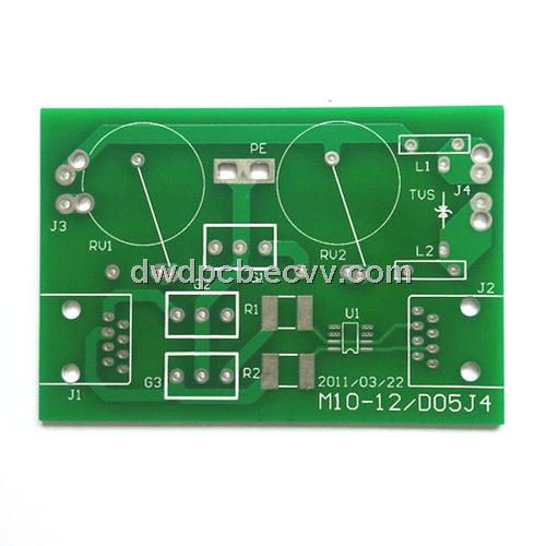 Double-sided PCBs, green solder mask and white silkscreen