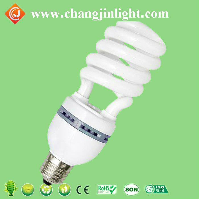 High quality E14/E26/E27/B22 half spiral cfl lamp 23w