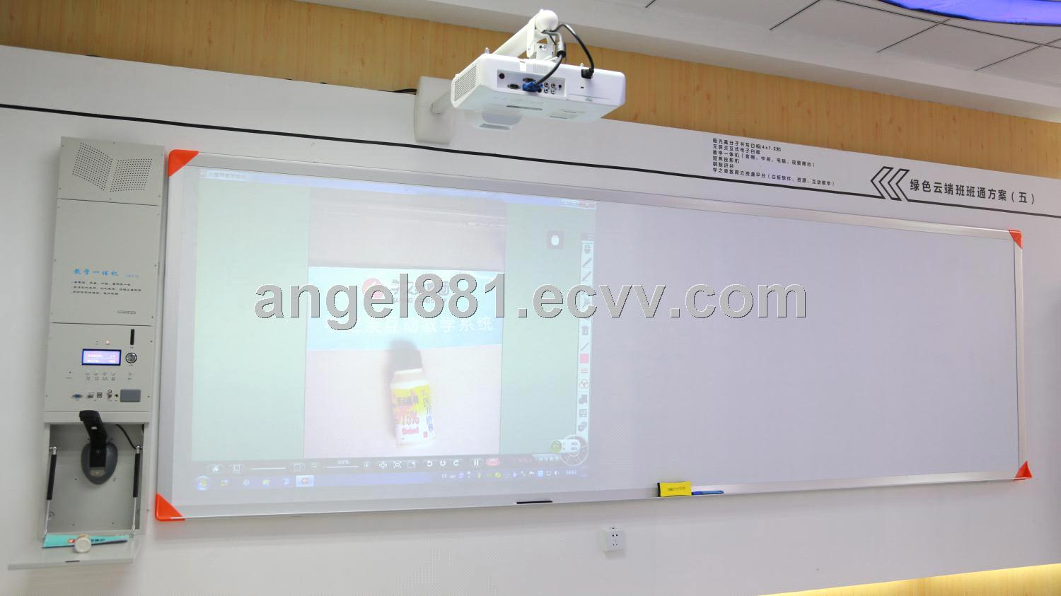 Matte polymer erasable projection whiteboard
