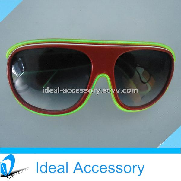 Multi-Colors El Wire Blinking Carrera Flashing Light Up Sunglasses ...