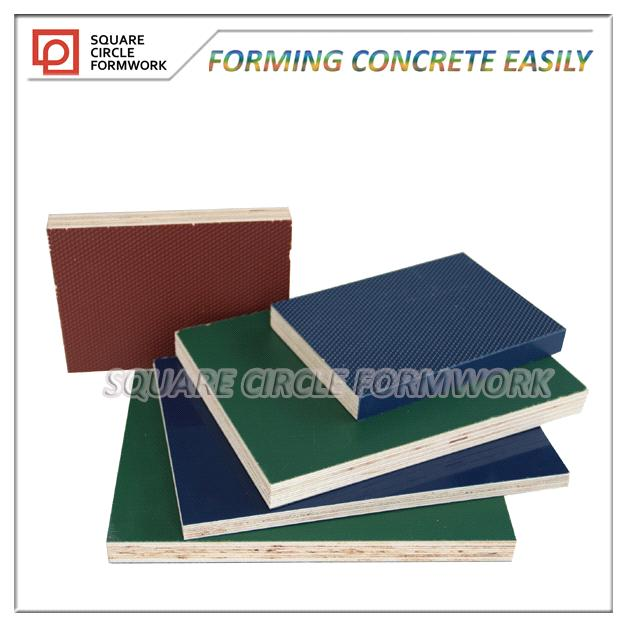 construction grade PP plastic coated plywood reusable 150 times at least in formwork system