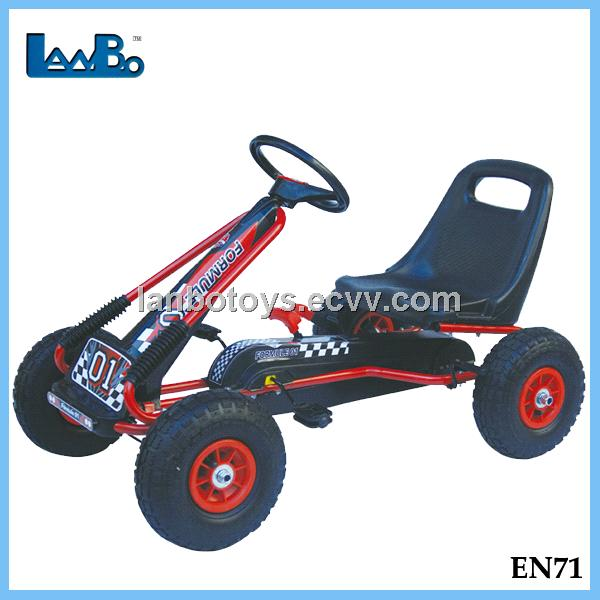 durable pedal go karts for sale with pneumatic wheels