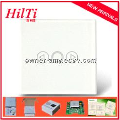 home glass touch panel led light dimmer switch, Crystal capacitive touch panel light dimmer switch